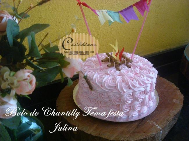 BOLO DE CHANTILLY FESTA JUNINA PARA NOSSA CLIENTEMARCELLA