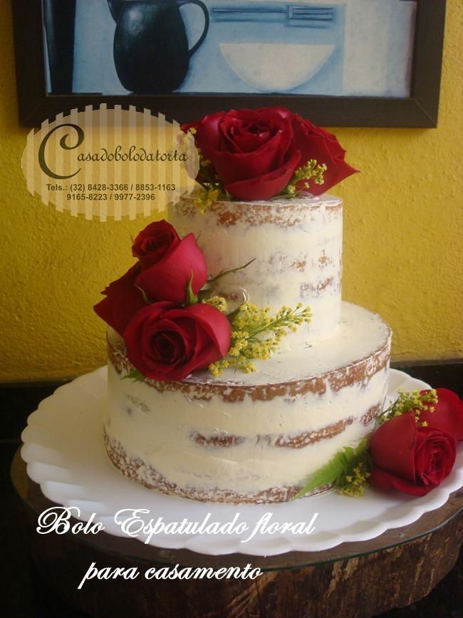 BOLO NAKED CAKE ESPATULADO PARA NOSSA CLIENTEDENISE