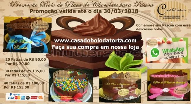 PROMOÇÃO BOLO DE PLACA DE CHOCOLATE