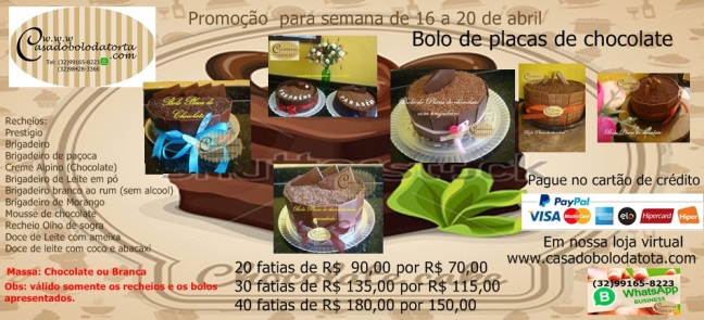 Promoção bolo placa de chocolate3